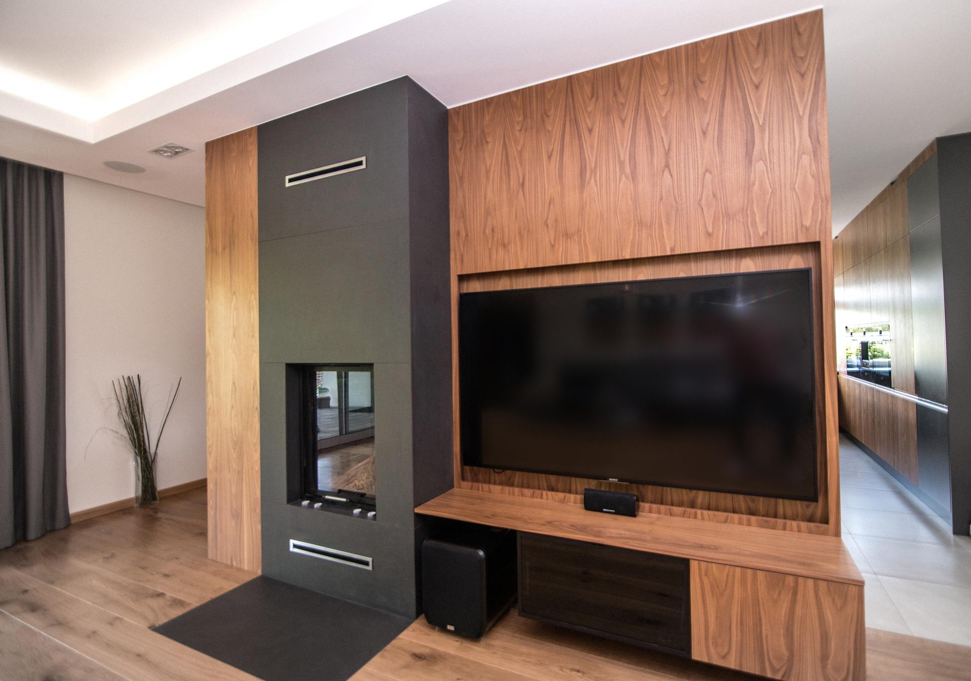 sciana telewizyjna, obudowa telewizora